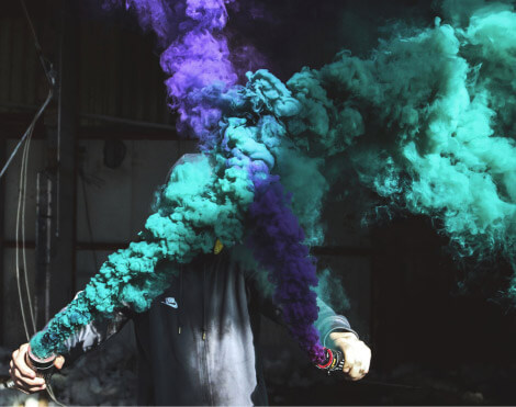 section particles colored smoke